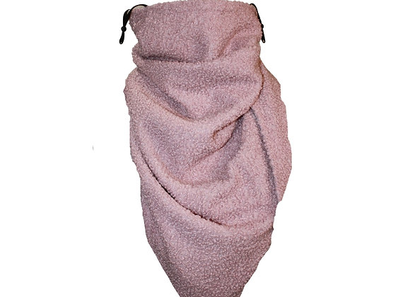 Dusky Pink Scarf with Nose Wire & Adjustable Ear Loops