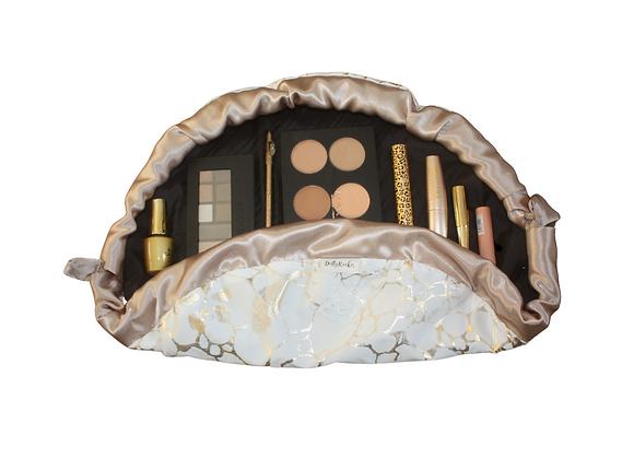 Gold & Ivory Makeup Bag
