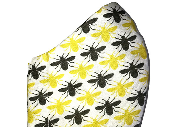 Yellow/Grey Bee Face Mask
