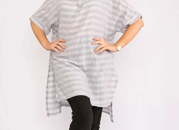 Oversized striped top Grey