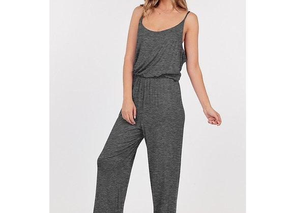 Strappy Jumpsuit (Charcoal)