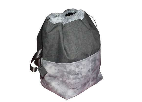 Grey Marbled Sparkle Toiletry Bag