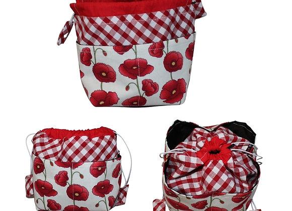 Poppy Print Bitsy Bag