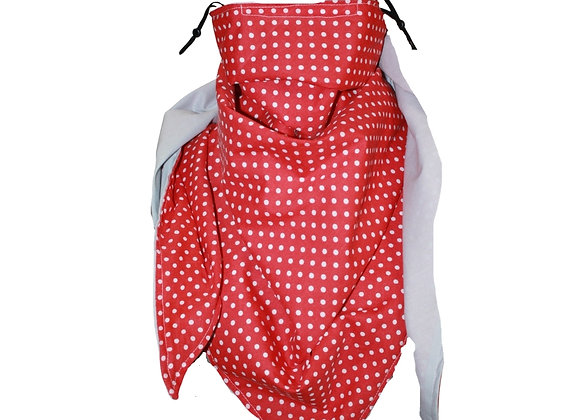 Red Spotty Scarf with Nose Wire & Adjustable Ear Loops