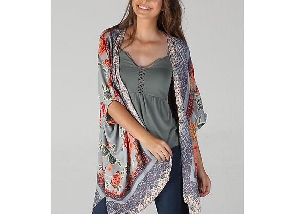 Silk Printed Kimono