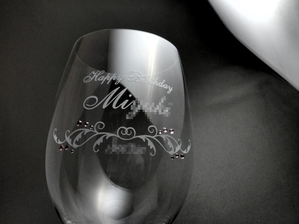 ワイングラスへの名入れ