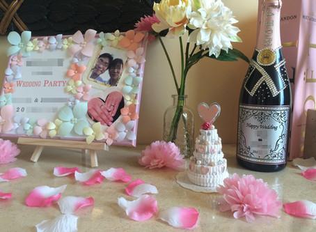 結婚式の贈り物としてのボトル刻印