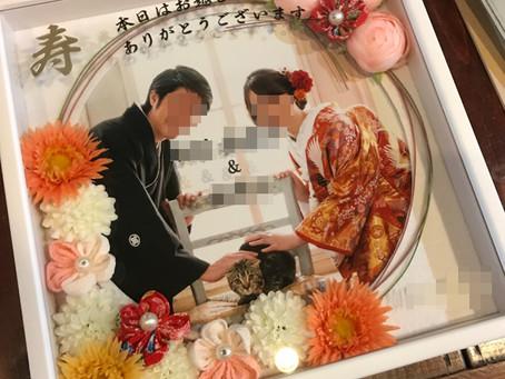 結婚式のウェルカムボードへの名入れ刻印