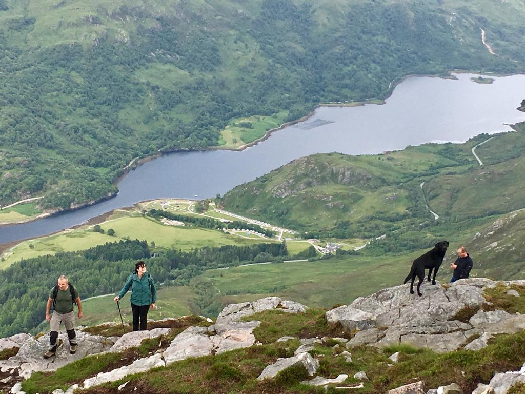 Pap of Glencoe ascent