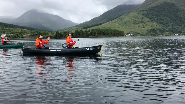 Canoeing on Loch Linnhe