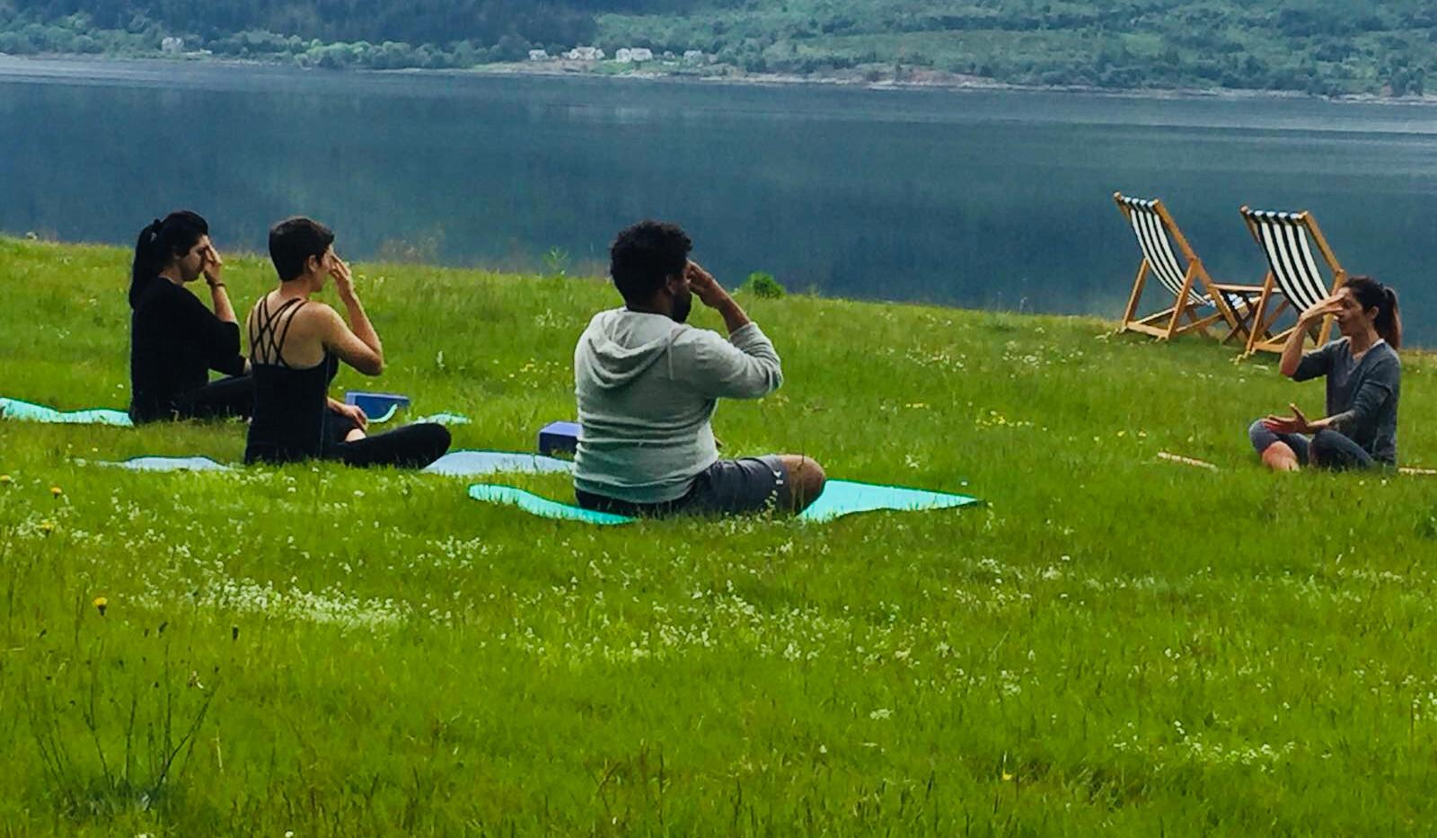 hatha yoga class