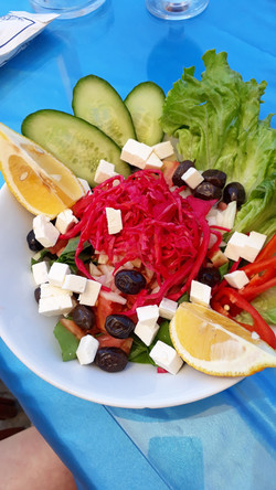 Cheese and olive salad
