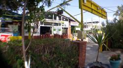 Restaurant seen from the garden