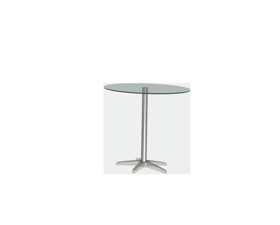 원형 유리 테이블 (ø700)