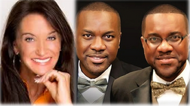 Author/Minister, Ann White, and Authors TV Hosts, Kay & Olu Taiwo