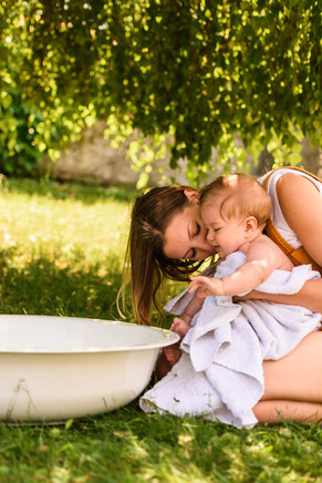 Baby Fotoshooting Badewanne Eichgraben