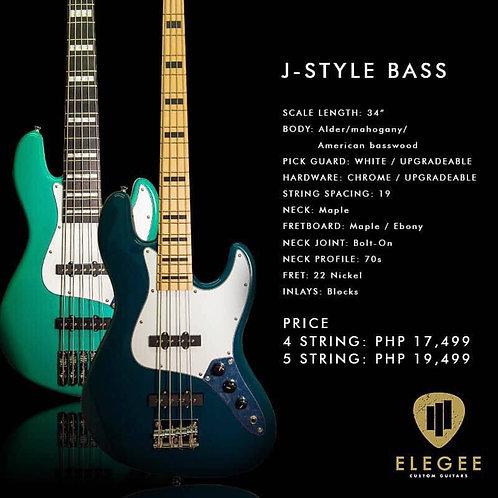 Elegee Alab J-style 4 String Bass Guitar