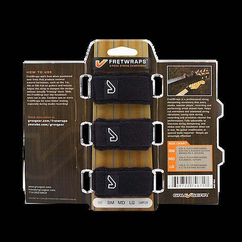 GruvGear Fretwraps 3-Pack, Black