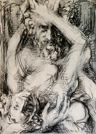 Ace of Clubs - Satyr and Bacant
