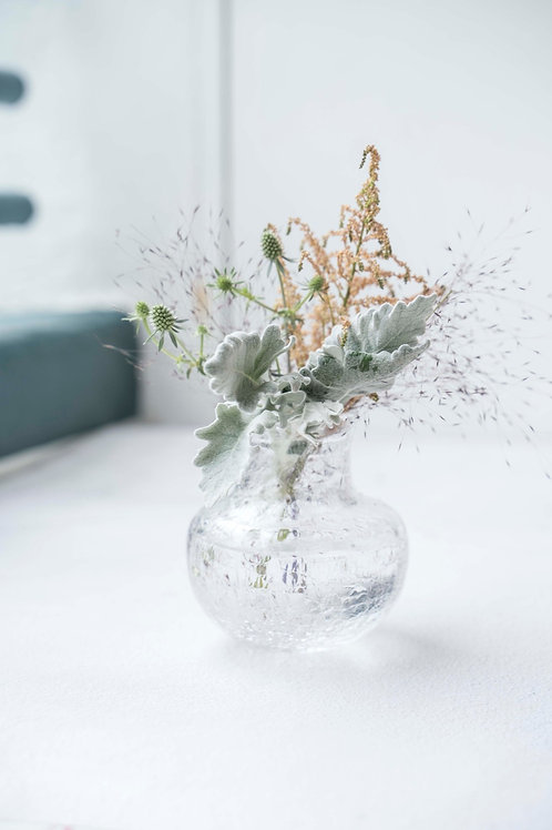 Crackle Glass Bouquet Vase