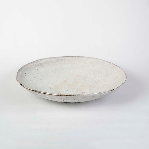 Large White Plate