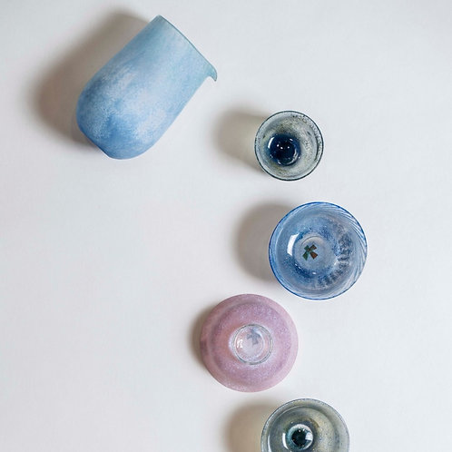 Coloured Glass Sake Cups