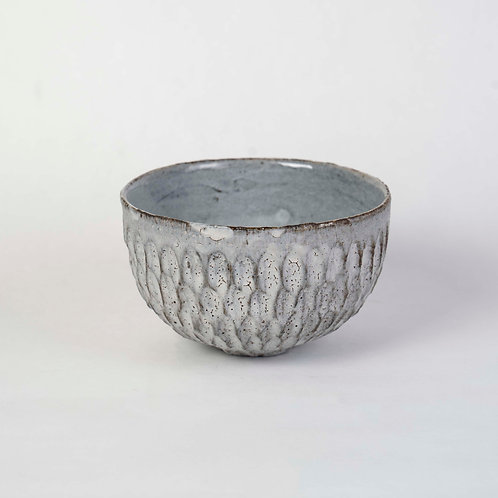 Faceted Grey Bowl