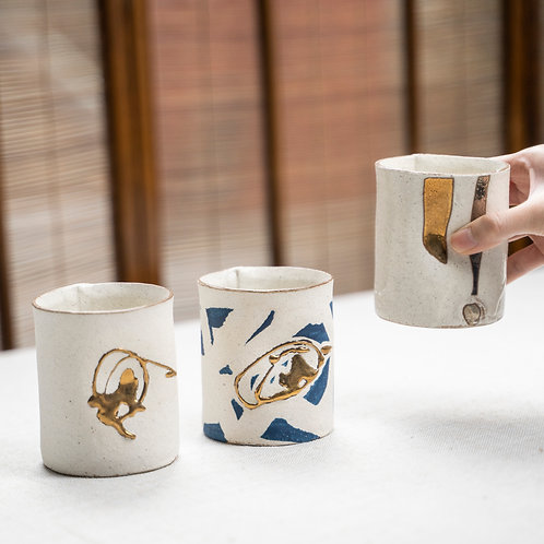 Gold & White Cup