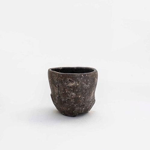 Dark Textured Sake Cup