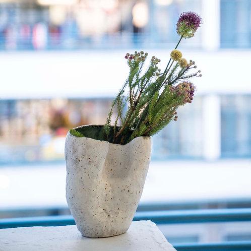 White Organic Vase