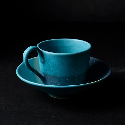 Turquoise Cup & Saucer