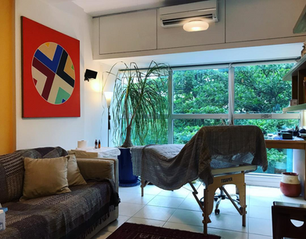 Meu estúdio do Largo do Machado, Rio de Janeiro.