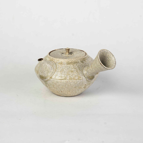 White Side-handled Teapot