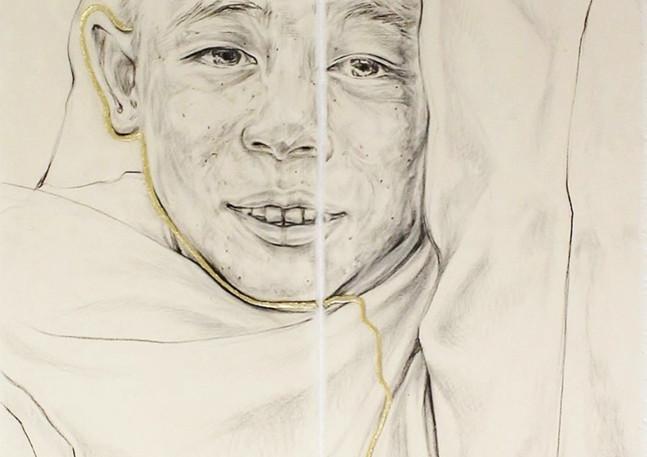 Boy with veil
