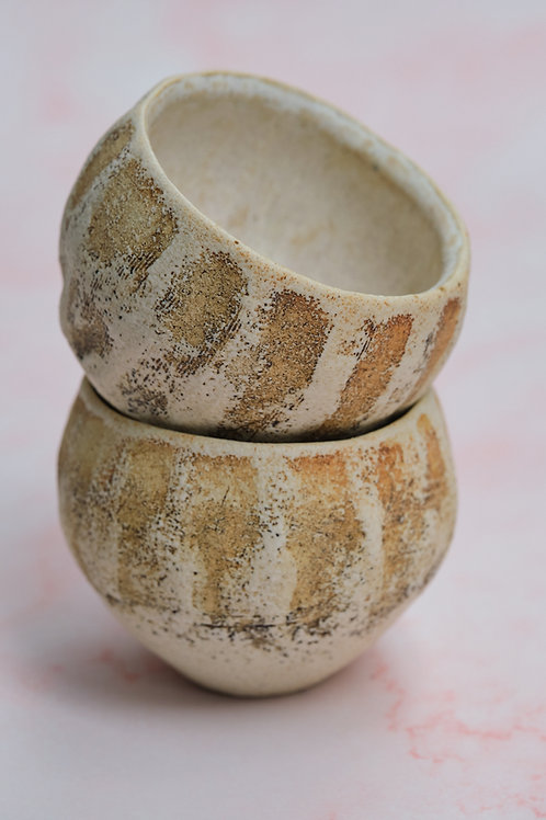 Cream Beige Sake Cup
