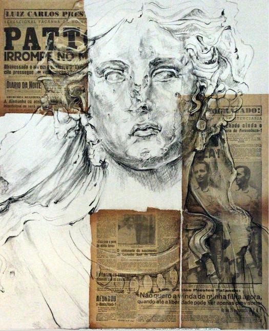 """15 de Março de 1945, Diário da Noite. """"Luiz Carlos Prestes Fotografado na penitenciária. Patton irrompe no Mosela. A Alemanha ou aceita a rendição incondicional ou será reduzida a ruínas. Museu do Louvre, Ariadne, arte etrusca, 900 anos A.C."""