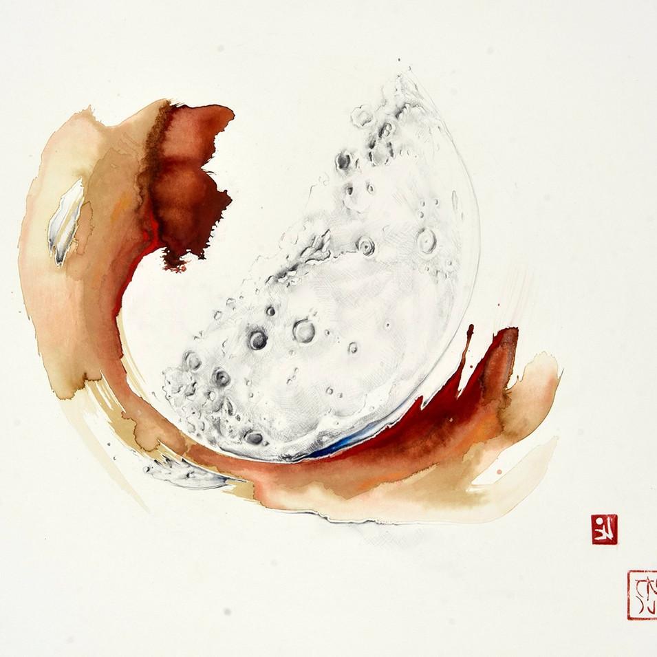 Moon Hokusai I