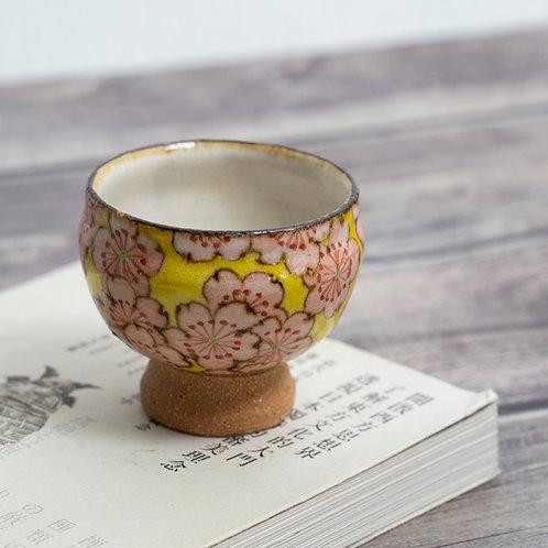 Yellow & Pink Sake Cup