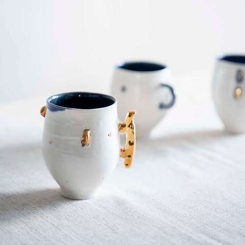 Gold and White Cup