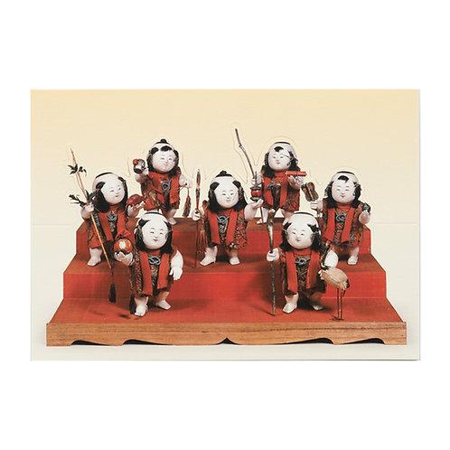 立体カード 御所人形 見立七福神