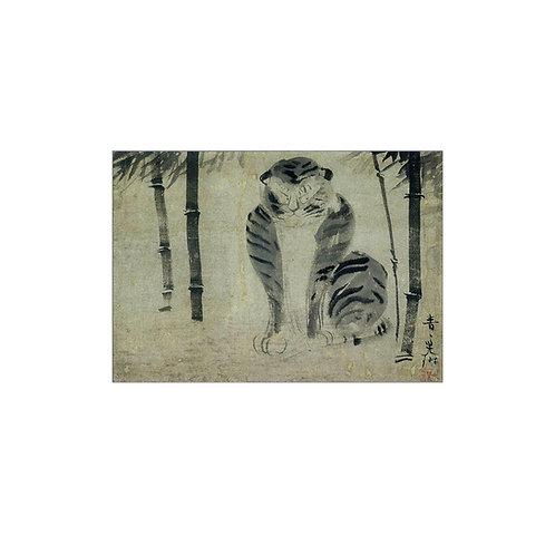 グリーティングカード 〈竹虎図〉 尾形光琳筆