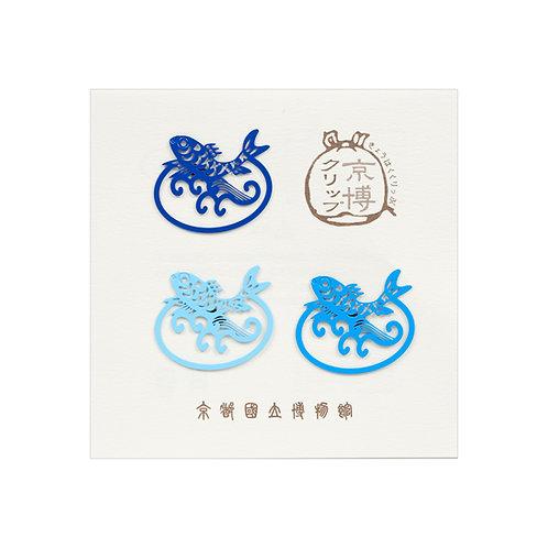 京博オリジナルカラークリップ 鯉・青