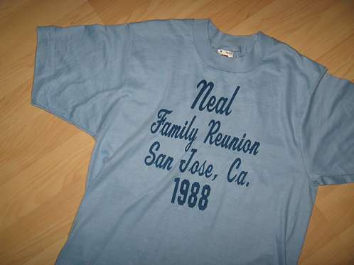 Neal Family Reunion San Jose CA 1988 Tee - Medium