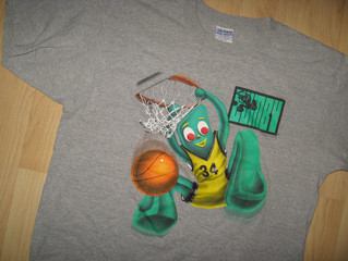 Gumby Animated Movie Prema Toy Vintage 1996 T Shirt Large Second Hand Cover Uranus