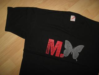 M Butterfly - Vintage T Shirt - CoverUranus