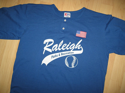 Raleigh NC 1980's Baseball Jersey - Extra Large