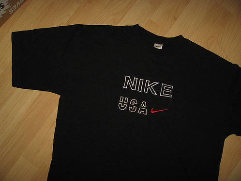 Nike USA Vintage 1980s Embroidered Swoosh Tee - XL