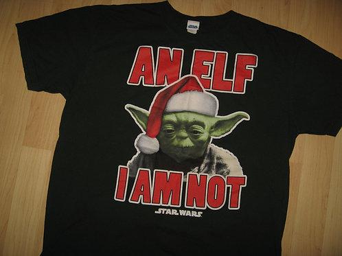 Star Wars Yoda Christmas Elf Tee - XL