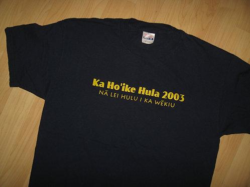 Na Lei Hulu I Ka Wekiu Hula 2003 Tee - Large