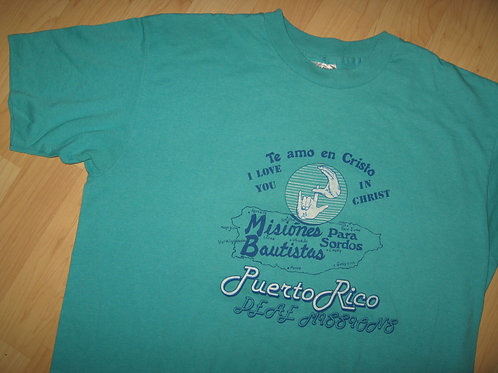 Puerto Rico 1980's Deaf Missions Tee - XL